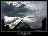 paris photography, louvre pyramid, eventide