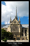 paris photography, notre dame, south facade, rose window