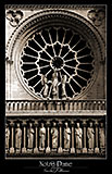 paris photos, notre-dame paris, west facade, rose window