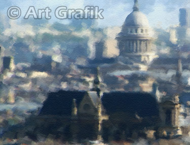 PARIS ROOFTOPS, paris paintings, canvas, limited edition, france