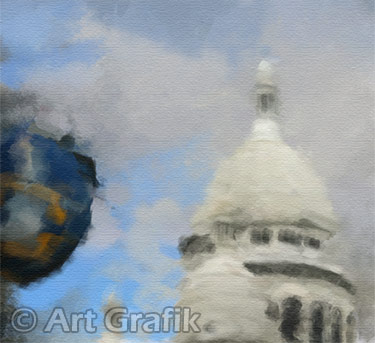 THROUGH THE BACK STREETS OF MONTMARTRE, paris art, canvas, limited edition, signed