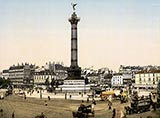 paris photos, Place de la Bastille, paris antique photo