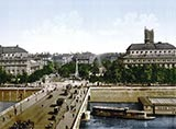 old photos of paris, Place du Chatelet, paris photochrom