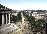 old photos of paris, Boulevard of the Madeleine, paris, france, photo