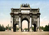 paris photos, Arc de Triomphe, du Carrousel, paris 1900 photochrom