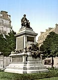 old photos of paris, Alexandre Dumas Monument, French writer, Paris