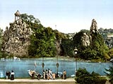 Les Buttes Chaumont, paris park, jardin photo