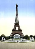 old photos of paris, Eiffel Tower