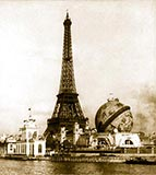 old photos of paris, Building and the globe from Point Passay, Paris Exposition, 1900