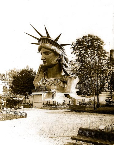 Statue of Liberty, head, paris park, new york, , paris