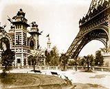 old photos of paris, Pavilion of Bolivia, Eiffel Tower, la tour eiffel, 1900 world fair paris