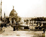 paris photos, Central Dome and Fountain Coutan, paris 1900