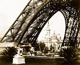 old photos of paris, Pavilion of Brazil, Eiffel Tower base, photos