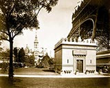 Pavilion of Ecuador, paris 1900 antique photo