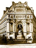 Fountain de Saint Michael, paris france, world fair 1900