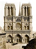paris photos, Notre-Dame, antique photograph, paris france
