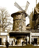 paris photos, The Moulin Rouge. Windmill in Paris