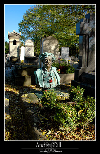 Andre Gill (cartoonist) Pere Lachasise Cemetery, paris photos, photography, france, city, capital