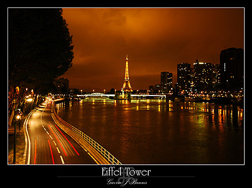 Night View Over the River Seine, paris photos, photography, france, city, capital