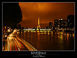 paris photos, View over River Seine at Night, Eiffel Tower