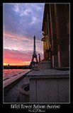 paris photos, eiffel tower sunset