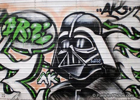 darth vader, star wars graffiti