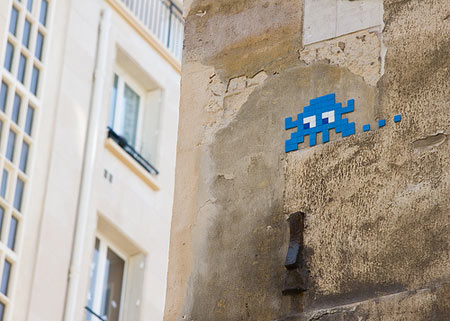 space invader in paris