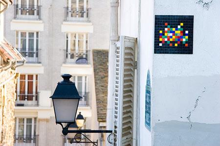 space invader, mosaic, paris