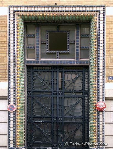 fancy door, paris, rue jasmin