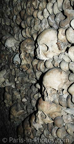 Paris catacombs, tunnels, passageways, ossuary, skulls, bones, official entrance, tourist attraction