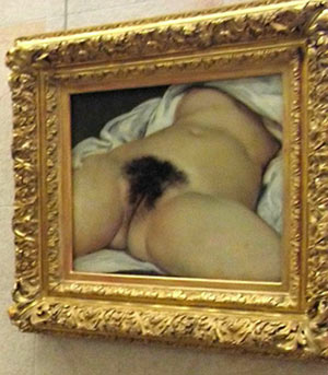 couret, origin of the world, L'Origine du monde, nude, erotica paris