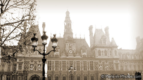 hotel de ville, paris town hall, paris winter light, paris photography, paris photos