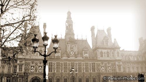 hotel de ville, paris town hall, paris winter light, paris photography, paris photos