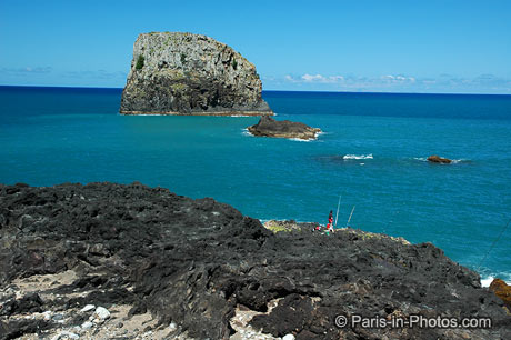 Madeira island and ocean
