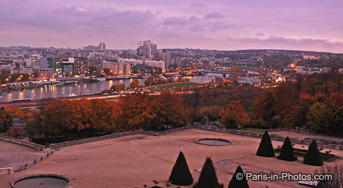 saint cloud park, sunsetting, paris