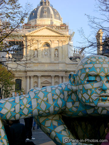 la sorbonne sculpture, paris
